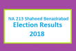 NA 213 Shaheed Benazirabad Election Result 2018 - PMLN PTI PPP Candidate Votes Live Update