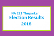NA 221 Tharparkar Election Result 2018 - PMLN PTI PPP Candidate Votes Live Update