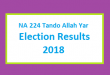 NA 224 Tando Allah Yar Election Result 2018 - PMLN PTI PPP Candidate Votes Live Update