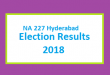 NA 227 Hyderabad Election Result 2018 - PMLN PTI PPP Candidate Votes Live Update