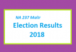 NA 237 Malir Election Result 2018 - PMLN PTI PPP Candidate Votes Live Update