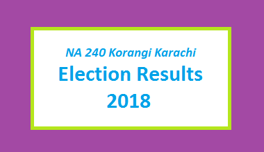 NA 240 Korangi Karachi Election Result 2018 - PMLN PTI PPP Candidate Votes Live Update