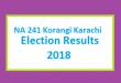 NA 241 Korangi Karachi Election Result 2018 - PMLN PTI PPP Candidate Votes Live Update