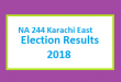 NA 244 Karachi East Election Result 2018 - PMLN PTI PPP Candidate Votes Live Update