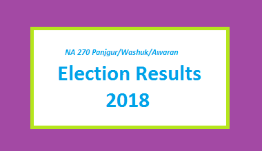 NA 270 Panjgur-Washuk-Awaran Result 2018 - PMLN PTI PPP Candidate Votes Live Update