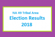 NA 49 Tribal Area Election Result 2018 - PMLN PTI PPP Candidate Votes Live Update