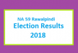 NA 59 Rawalpindi Election Result 2018 - PMLN PTI PPP Candidate Votes Live Update