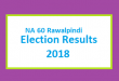 NA 60 Rawalpindi Election Result 2018 - PMLN PTI PPP Candidate Votes Live Update