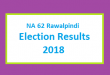 NA 62 Rawalpindi Election Result 2018 - PMLN PTI PPP Candidate Votes Live Update