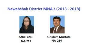 Nawabshah MNA Pics - Azra Fazal, Ghulam Mustafa