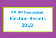 PP 107 Faisalabad Election Result 2018 - PMLN PTI PPP Candidate Votes Live Update