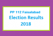 PP 112 Faisalabad Election Result 2018 - PMLN PTI PPP Candidate Votes Live Update