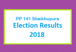 PP 141 Sheikhupura Election Result 2018 - PMLN PTI PPP Candidate Votes Live Update