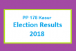 PP 178 Kasur Election Result 2018 - PMLN PTI PPP Candidate Votes Live Update