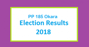 PP 185 Okara Election Result 2018 - PMLN PTI PPP Candidate Votes Live Update