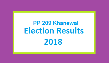 PP 209 Khanewal Election Result 2018 - PMLN PTI PPP Candidate Votes Live Update