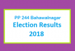 PP 244 Bahawalnagar Election Result 2018 - PMLN PTI PPP Candidate Votes Live Update