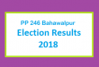 PP 246 Bahawalpur Election Result 2018 - PMLN PTI PPP Candidate Votes Live Update