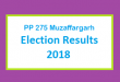 PP 275 Muzaffargarh Election Result 2018 - PMLN PTI PPP Candidate Votes Live Update