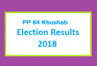 PP 84 Khushab Election Result 2018 - PMLN PTI PPP Candidate Votes Live Update