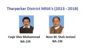 Tharparkar MNA Pics - Faqir Sher Muhammad, Noor M. Shah Jeelani
