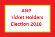 ANP Ticket Holders Candidate Names and List for Election 2018 in KPK Province Pakistan Online