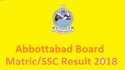 BISE Abbottabad Board SSC Part 1 2 Matric Result 2018 Toppers Online