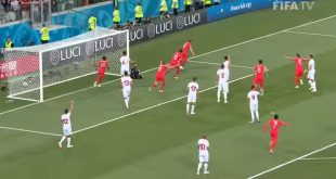 England Polled First Goal Against Tunisia in FIFA Football World Cup 14 Match 2018 Russia 18 June 2018
