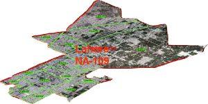 NA 109 Faisalabad Area Map of National Assembly Halqa 2018.