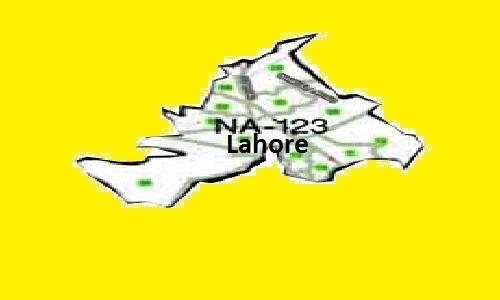 NA 123 Lahore Area Map of National Assembly Halqa 2018.