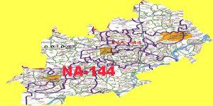 NA 144 Okara Area Map of National Assembly Halqa 2018.