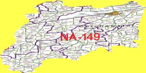 NA 149 Sahiwal Area Map of National Assembly Halqa 2018.
