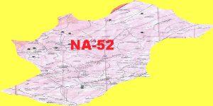 NA 52 Islamabad Area Location Map of National Assembly Halqa 2018.