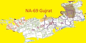 NA 69 Gujrat Area Location Map of National Assembly Halqa 2018