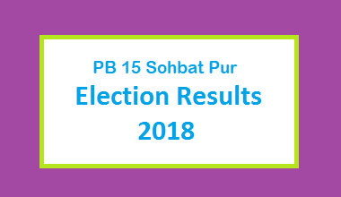 PB 15 Sohbat Pur Election Result 2018 - PMLN PTI PPP Candidate Votes Live Update