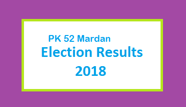 PK 52 Mardan Election Result 2018 - PMLN PTI PPP Candidate Votes Live Update