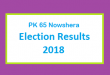 PK 65 Nowshera Election Result 2018 - PMLN PTI PPP Candidate Votes Live Update