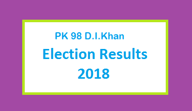 PK 98 D.I.Khan Election Result 2018 - PMLN PTI PPP Candidate Votes Live Update