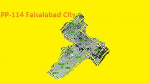 PP 114 Faisalabad City Area Map of Punjab Assembly Constituency (Halqa) 2018