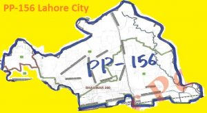 PP 156 Lahore City Area Map of Punjab Assembly Constituency (Halqa) 2018