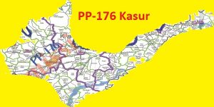 PP 176 Kasur Area Map of Punjab Assembly Constituency (Halqa) 2018