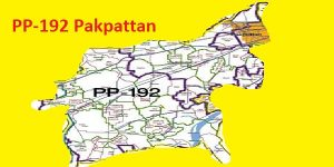 PP 192 Pakpattan Area Map of Punjab Assembly Constituency (Halqa) 2018