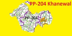 PP 204 Khanewal Area Map of Punjab Assembly Constituency (Halqa) 2018