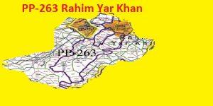PP 263 Rahim Yar Khan Area Map of Punjab Assembly Constituency (Halqa) 2018