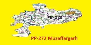 PP 272 Muzaffargarh Area Map of Punjab Assembly Halqa 2018.