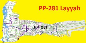 PP 281 Layyah City Area Map of Punjab Assembly Constituency (Halqa) 2018