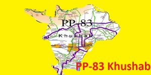 PP 83 Khushab Area Map of Punjab Assembly Constituency (Halqa) 2018.