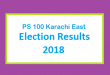 PS 100 Karachi East Election Result 2018 - PMLN PTI PPP Candidate Votes Live Update