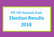 PS 102 Karachi East Election Result 2018 - PMLN PTI PPP Candidate Votes Live Update