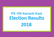 PS 105 Karachi East Election Result 2018 - PMLN PTI PPP Candidate Votes Live Update
